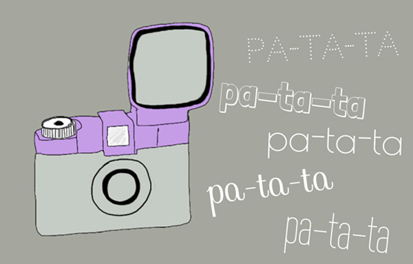dibujo cámara de fotos