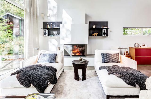 Noir blanc un style for Interieur maison moderne blanc