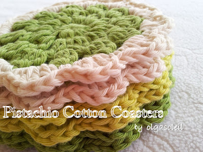 Pistachio Cotton Coasters 4