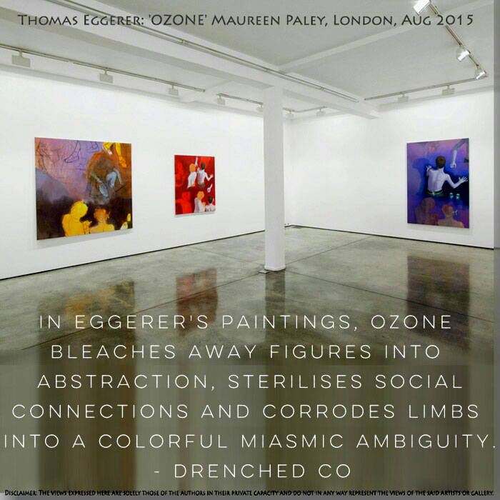 Image of Maureen Paley, London and exhibition review by Drenched Co