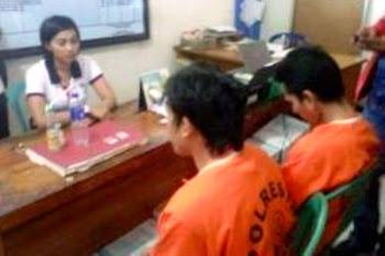 Tersangka kasus sabu-sabu. Kotabumi Lampung Utara
