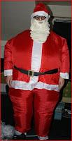 Weihnachtsmann - Kostüm aufblasbar für 29,90 Euro