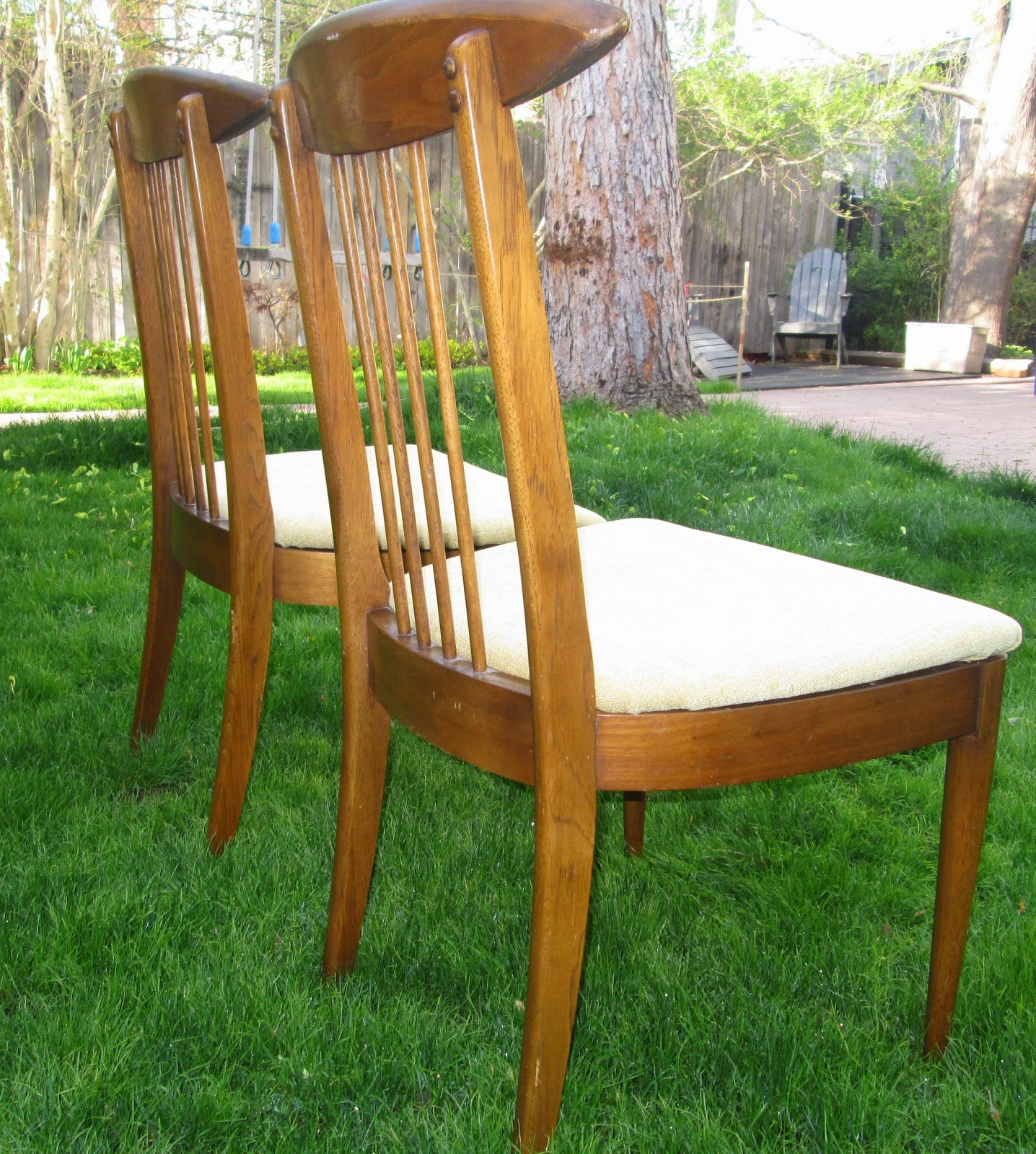 Stunning Pair of Broyhill Sculptra Mid Century Dining Chairs SOLD
