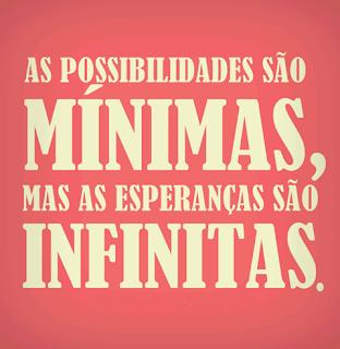 As possibilidade São minimas,mas as esperança Tudo Nosso