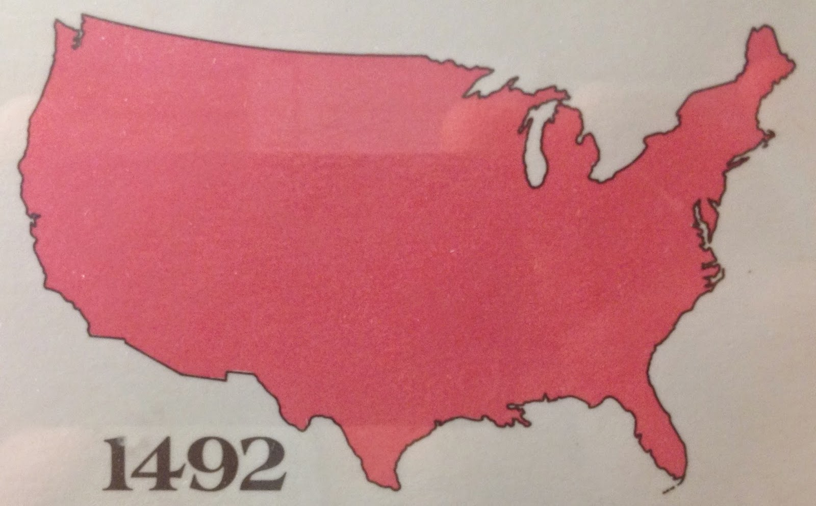 similarly to the map above the picture shows a timeline of the conquest of native american land by european settlers