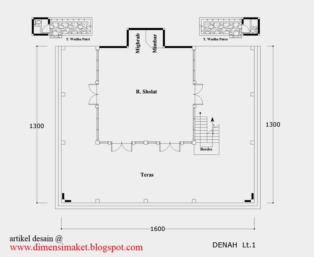 Desain Masjid Musholla Contoh Gambar Lantai