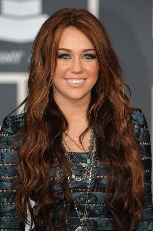 Miley Cyrus Brown Hair Color