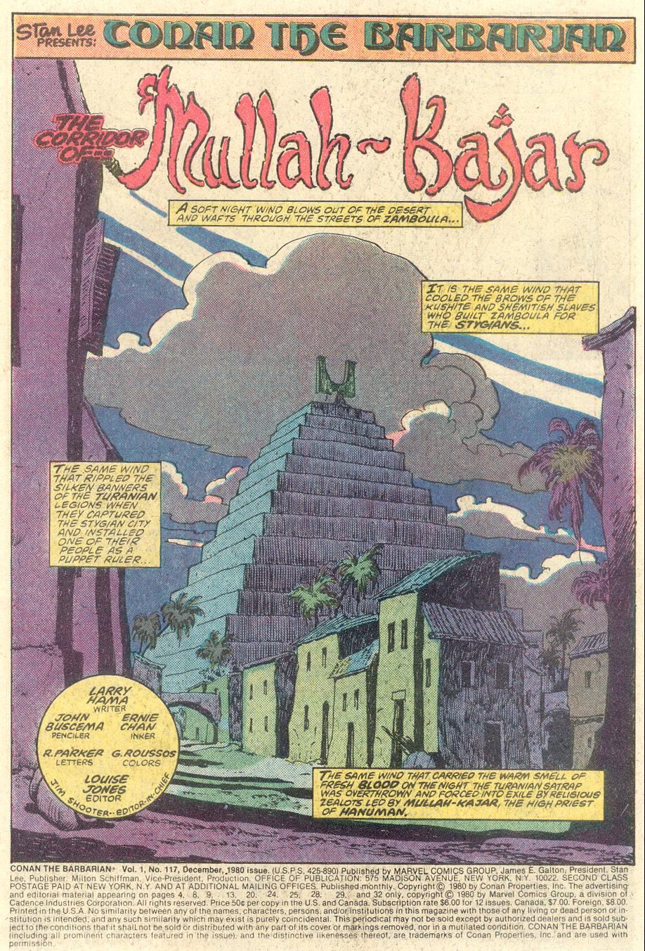 Conan the Barbarian (1970) Issue #117 #129 - English 2