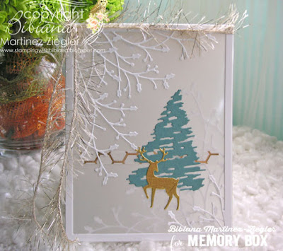 parchment card with winter tree front