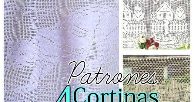 Cortinas en Crochet Filet / 4 Patrones Gratis | Todo crochet