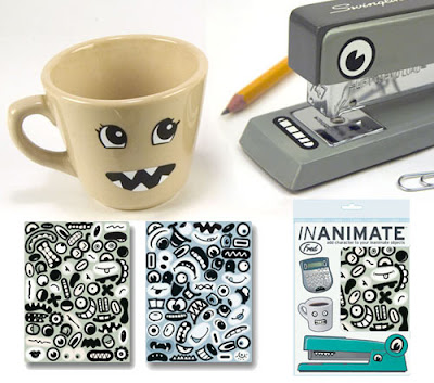 eyes and mouth stickers for stapler, mug, etc.
