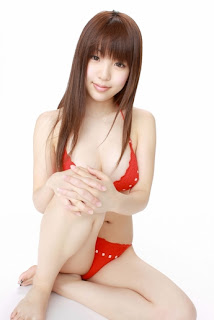 Mizuho Shiraishi Japanese Sexy Model Sexy Red Swimsuit Part 2 Photo 7