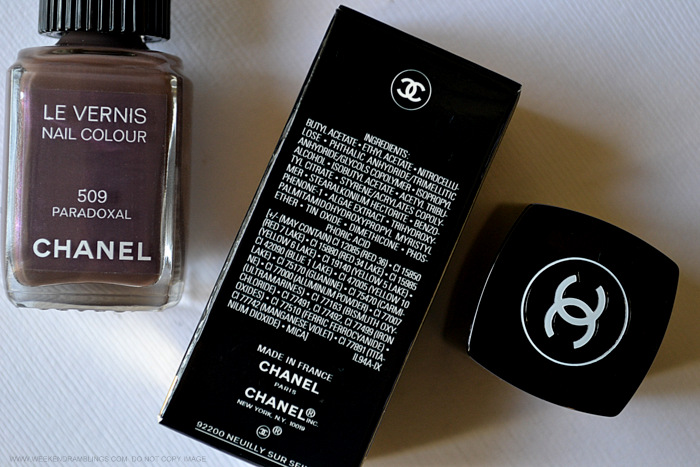 chanel nail polish paradoxal 509 indian darker skin beauty makeup blog reviews photos swatches notd ingredients