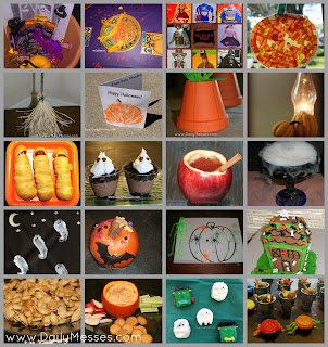 Daily messes halloween ideas crafts food and fun - Interesting diy halloween wreaths home ...