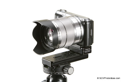 Sony NEX-C3 + Mini MR Pano Nodal rail on Sunwayfoto DDH-03