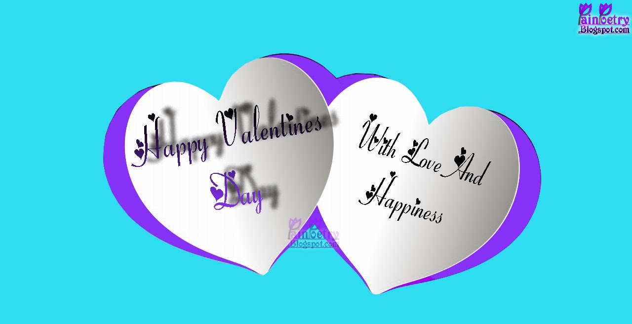 Happy-Valentines-Day-Two-Hearts-Come-Out-From-Purple-Surface-Image-HD