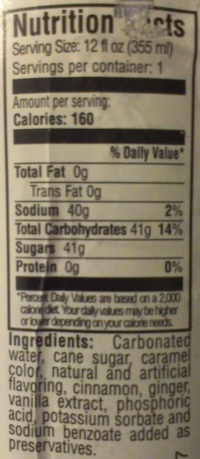 Not your fathers root beer nutrition facts sugar butik work