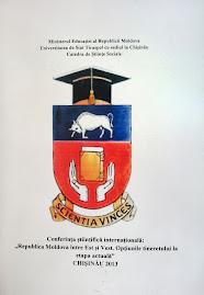 Coperta 1 a volumului colectiv al Conferinţei internaţionale, Chişinău, aprilie 2013