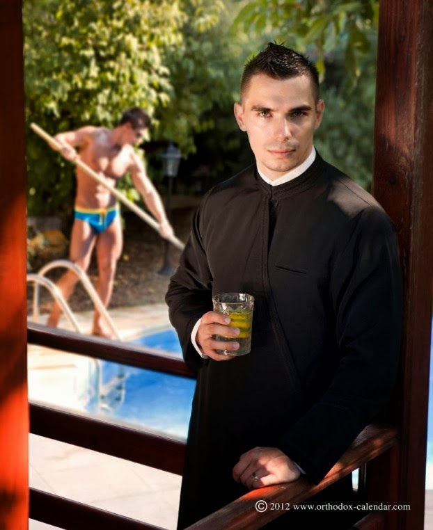 Naked gay Orthodox priests strip off again for 2015