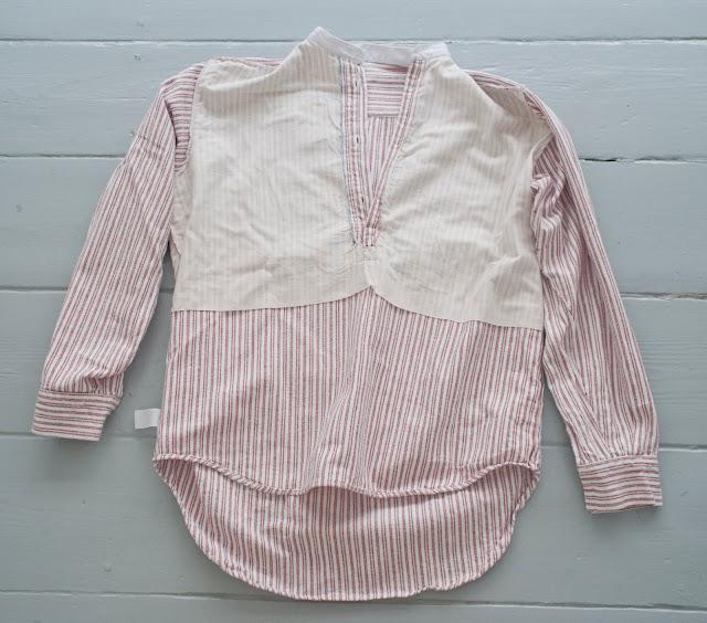 Collarless shirt made by Somax