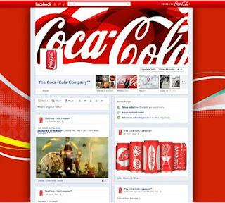 Timeline de la página de Coca-Cola