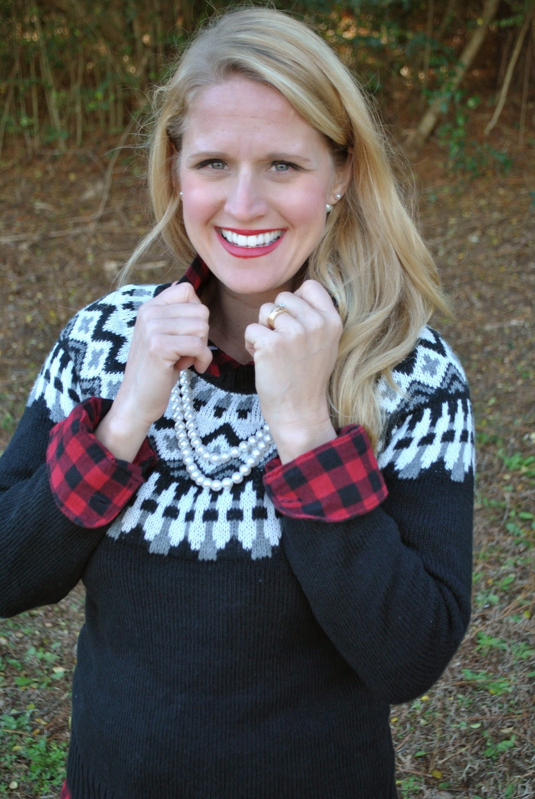 J Crew Herringbone Vest Buffalo Check Flannel Shirt Fair Isle Sweater~The Army Life of an Aviators Wife