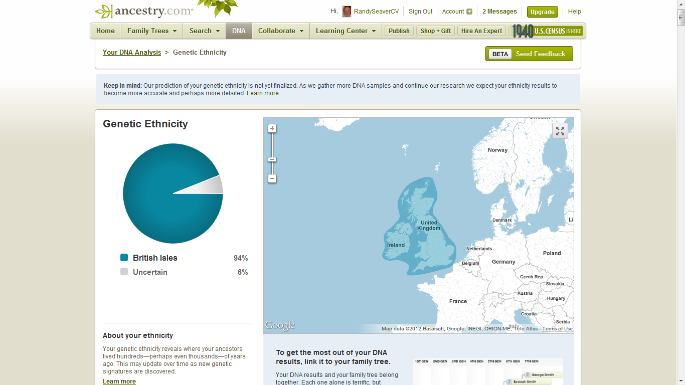 results from ancestrycom autosomal dna tests post 1