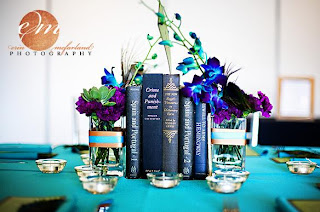 wedding centerpice books