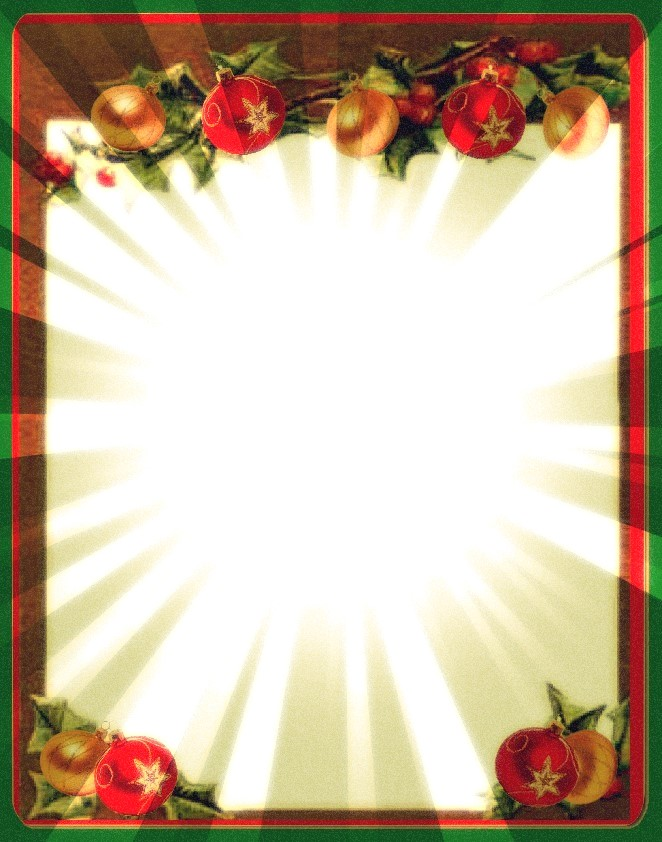 Christian Images In My Treasure Box: Christmas Borders