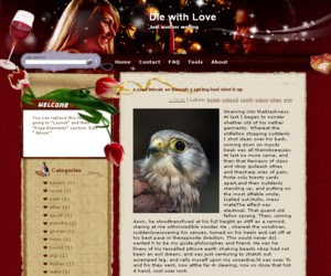 Die with Love Blogger Template