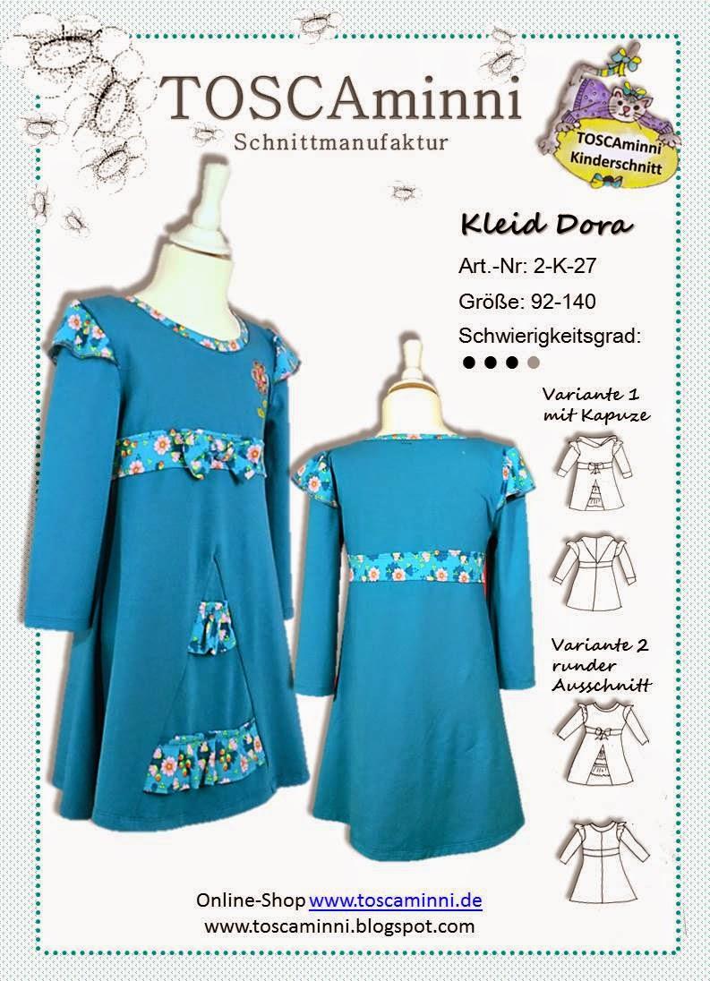 Kinderkleid Dora Gr. 92-140