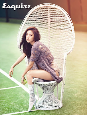 Min Hyo Rin sexy hot babes photos for Esquire Korea August 2012