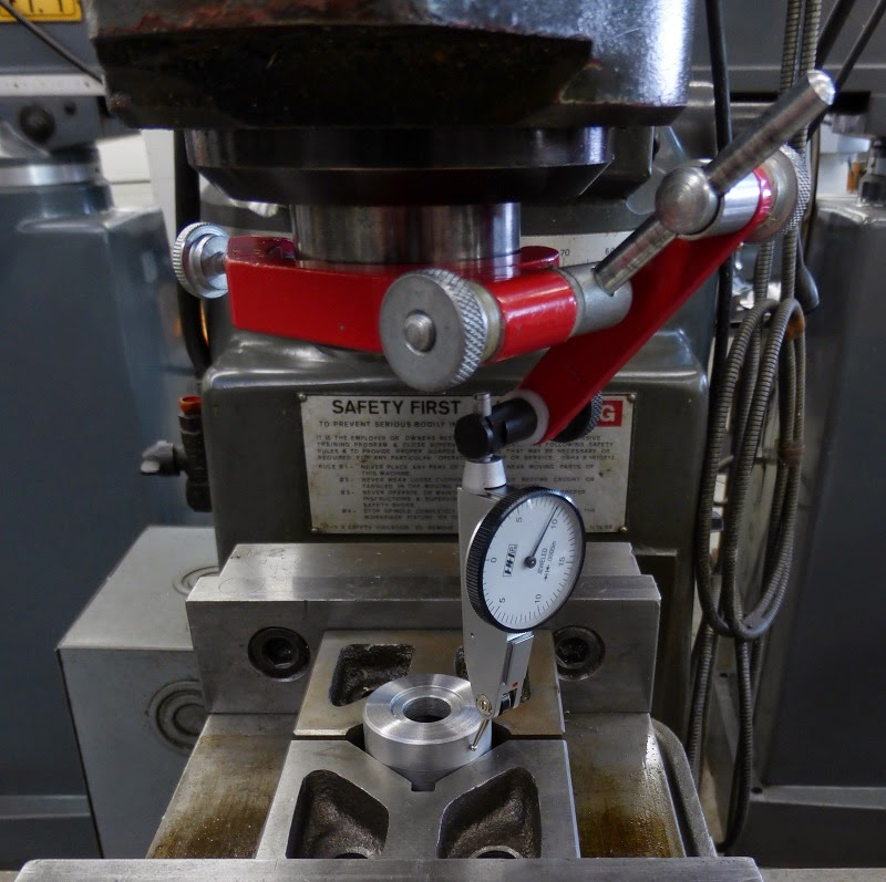 using a dial indicator to allign on center on milling machine