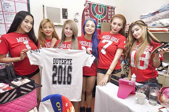 Sexy girl group willing to sacrifice shows for Duterte