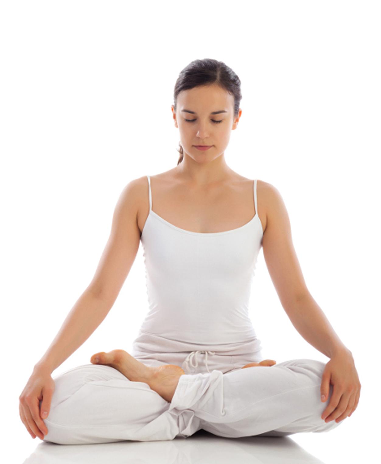 Yoga Meditation Pose STRESS RELIEF -...