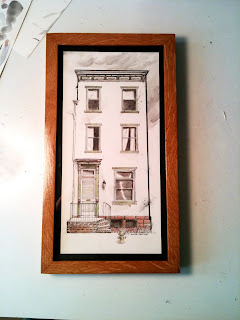 Engleton house Harrisburg Pa birthday drawing ammon perry pen and ink with watercolor