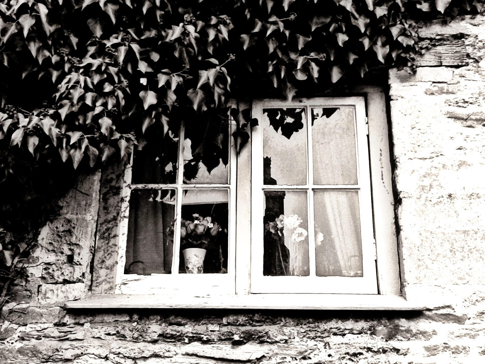 The B&W Photography Project - Lacock window // 76sunflowers