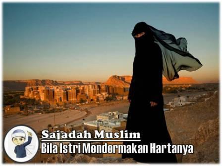 bila istri mendermakan hartanya sajadah muslim