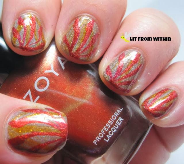 Zoya Channing, a stunning burnt orange metallic