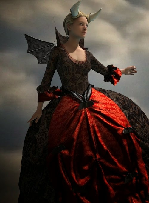 Lady De Lioncourt Dress for Genesis 2 Female