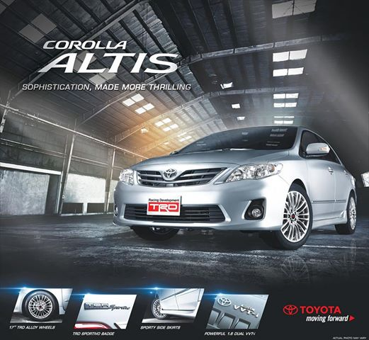 Toyota Offering New Corolla Altis TRD Upgrade for 1.6G AT   Philippine Car News, Car Reviews