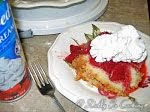Sour cream Pound with Fresh Strawberries