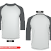 Free Vector Raglan 3 4 sleeve shirt vector