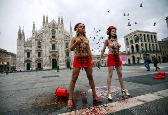 Голые украинки в Милане