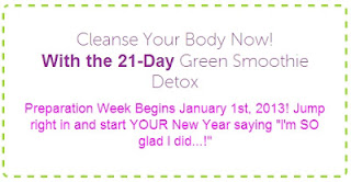21 Day Green Smoothie Detox starting January 1st, 2013