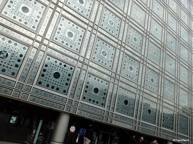 mur moucharabieh tôle metal fer Institut Institut du Monde Arabe Akhenaton Paris