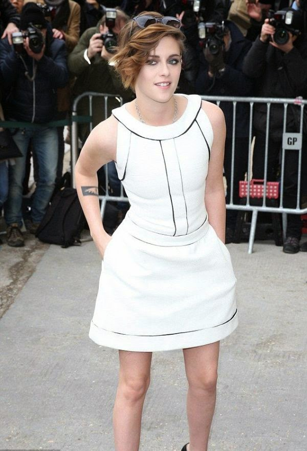 What we're saying is? If the garment was perfection as Kristen Stewart looked comfortable and stylish at Paris Haute Couture Fashion Week in France on Tuesday, January 27, 2015.
