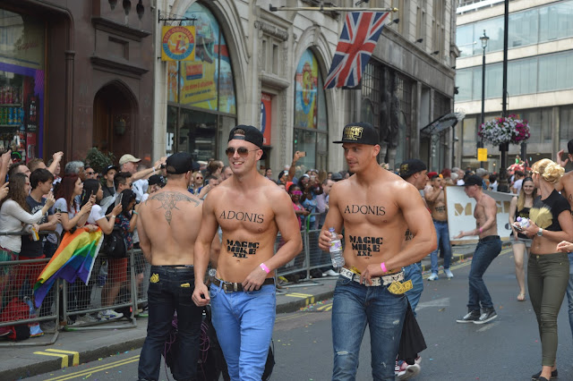 Magic Mike XXL men at London Gay Pride 2015