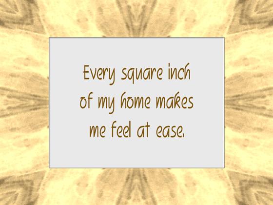 HOME affirmation