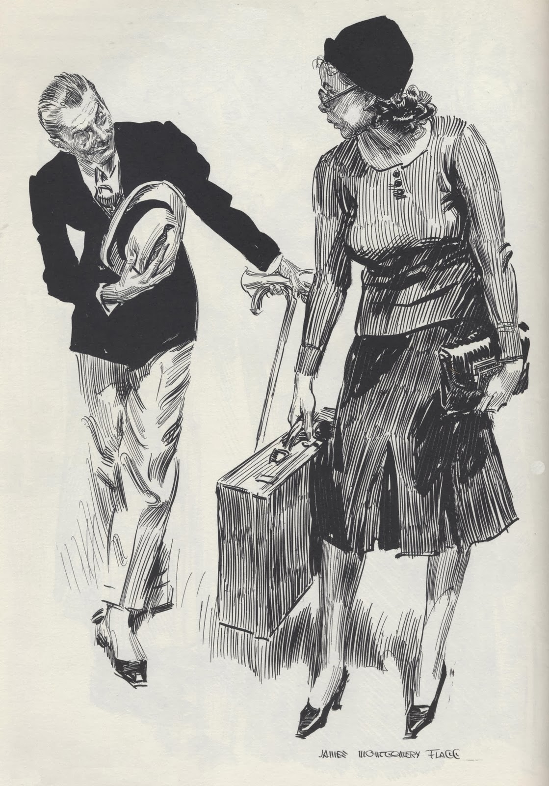 Pen And Ink Illustrations : Art contrarian james montgomery flagg illustrator